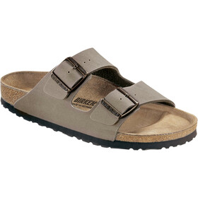 Birkenstock Arizona Sandals Birko-Flor Nubuk Narrow, stone